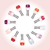 Color nail enamels Stock Images