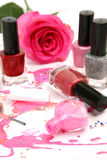 Color nail polish Stock Image