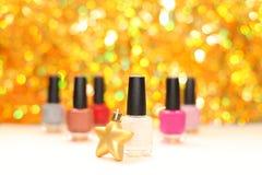 Color nail polish royalty free stock photos