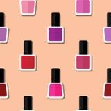 Color nail polish pattern Stock Photography