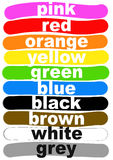 Color names in English Stock Photo