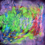 Color of nature - oil on canvas Stock Images