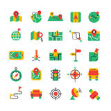 Color Navigation Icons Set Stock Images