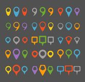 Color navigation pins collection Royalty Free Stock Image