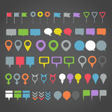 Navigation pins collection Stock Photos