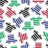Color navy t-shirts pattern  Royalty Free Stock Photo