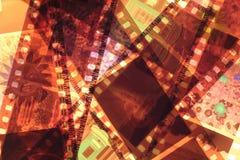 Color Negative Film Strips close up Stock Photos