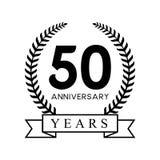 color negro retro de la 50.a del aniversario de los años guirnalda del laurel libre illustration