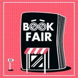 Color negro y rojo de la venta de la feria de libro Imágenes de archivo libres de regalías