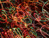 Color neon streaks of light glow lines Stock Images