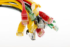 Color network cables Stock Photo