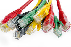 Color network cables Royalty Free Stock Image