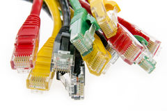 Color network cables Royalty Free Stock Photography