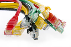 Color network cables Royalty Free Stock Images