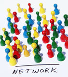 Color network Stock Photography