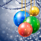 Color New Year's spheres Stock Photos