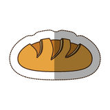 Color nomal bread icon. Illustraction design image Royalty Free Stock Photo