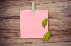 Color note, blank paper, post it. Blank paper on wood borad royalty free stock photos