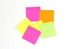 Color note pad. To note that the colored paper Stock Image