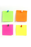 Color note pad. To note that the colored paper Royalty Free Stock Image