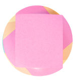 Color note paper block Stock Photos
