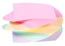 Color note paper block Royalty Free Stock Image
