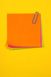 Color note papers Stock Images