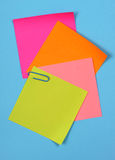 Color note papers Stock Photography