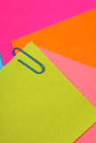 Color note papers Royalty Free Stock Photo