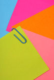 Color note papers Stock Photo