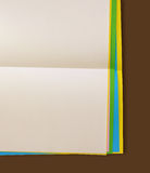 Color note papers Royalty Free Stock Images