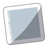 Color notebook school icon Stock Photography