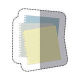Color notebooks school icon Stock Photo