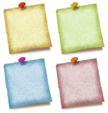 Color Notes. A set of four colorful notes royalty free stock photo