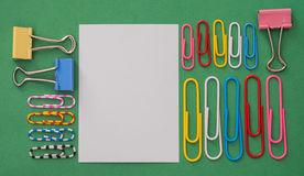 Color notes and clips Royalty Free Stock Image