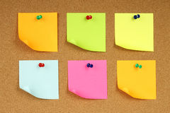 Color notes papers Stock Photos
