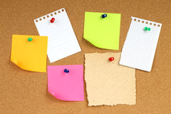 Color notes papers Stock Photo