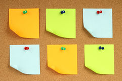 Color notes papers Royalty Free Stock Photos