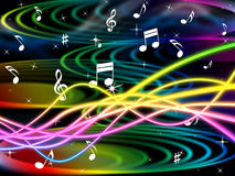 Color Notes Represents Sheet Music And Clef Royalty Free Stock Photography