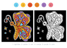 Color by number for children, Butterfly Stock Photo