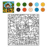 Color by number for children (pirate boy) Royalty Free Stock Image