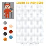 Color by number, Devil Stock Image