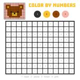 Color by number, education game, Bear Royalty Free Stock Images