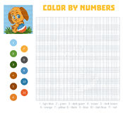 Color by number, education game with dog Royalty Free Stock Images