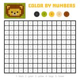 Color by number, education game, Lion. Color by number, education game for children, Lion Royalty Free Stock Image