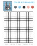 Color by number, education game, Rabbit Royalty Free Stock Image