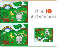 Color by number educational game for kids. Forest glade with a h Royalty Free Stock Photography