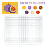 Color by number, fruits and vegetables, figs Stock Photo