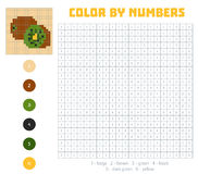 Color by number, fruits and vegetables, kiwi Royalty Free Stock Photography