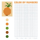 Color by number, fruits and vegetables, onion. Color by number, education game for children. Fruits and vegetables, onion. Coloring book with numbered squares Stock Images